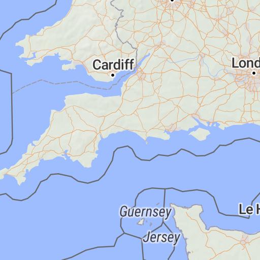 Map Of West Of England.South West England 1 250 000 Road Atlas Paul Johnson Offline